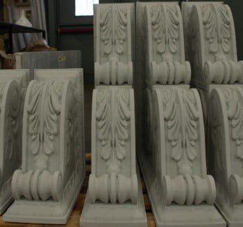 odtworzone elementy budynku za pomocą technologii druku 3D